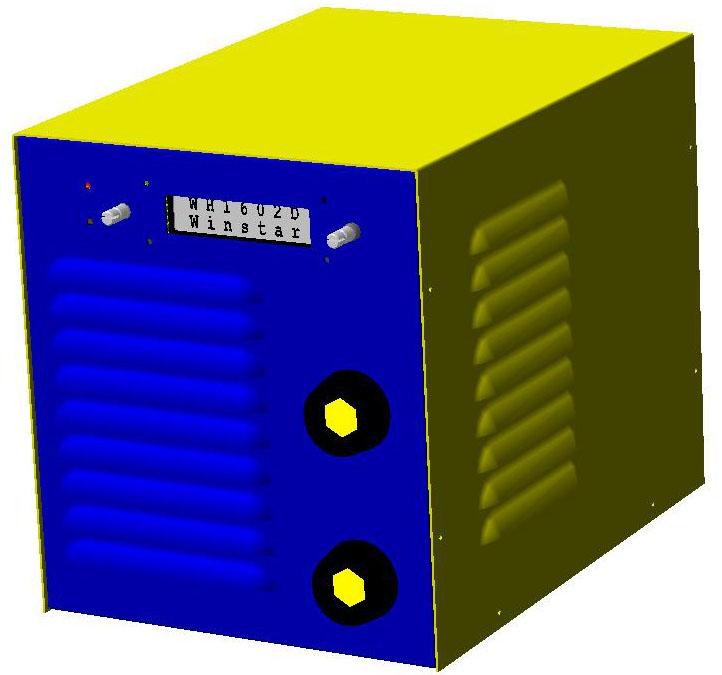 Общий вид с частичной разверткой корпуса.  ИИСТ-140 MMA/TIG DC Сайт разработчика.  Home.